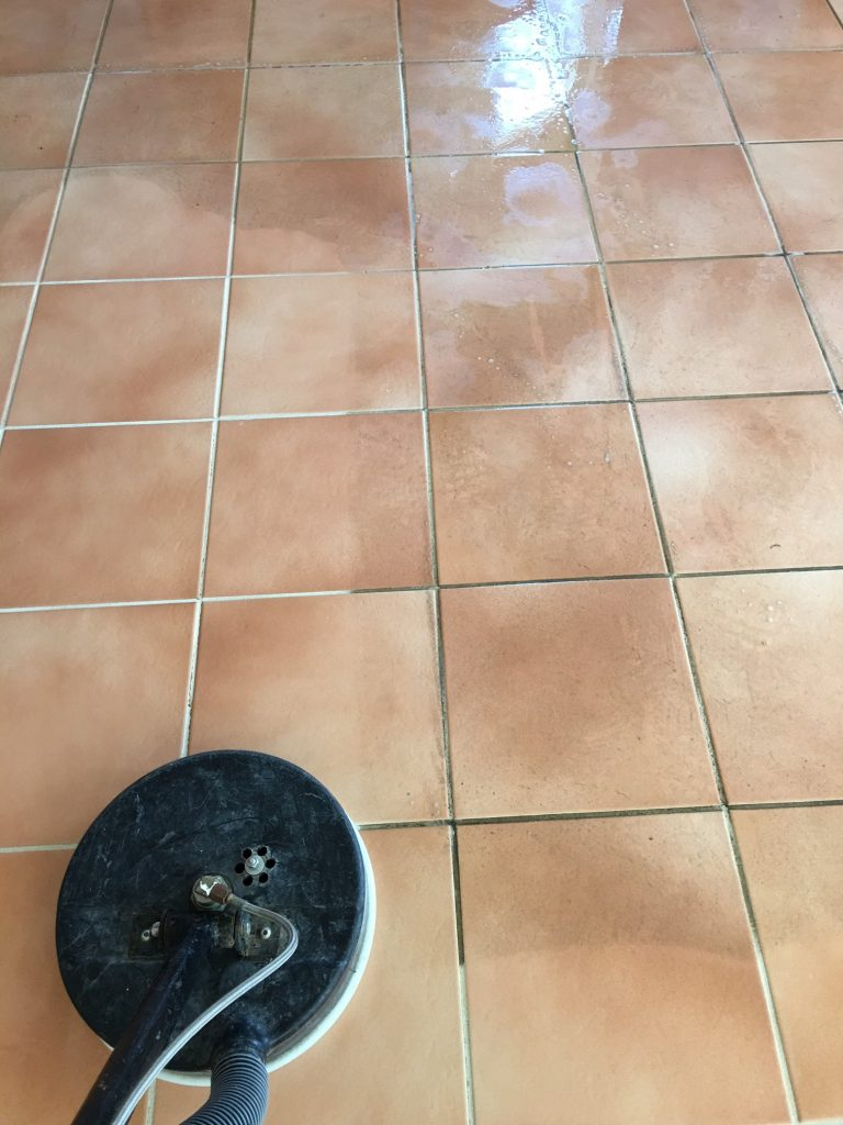 Tile Cleaning- Before and After